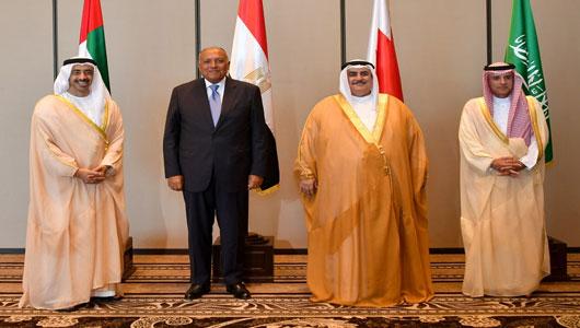 Image result for صورة لرباعي حصار قطر